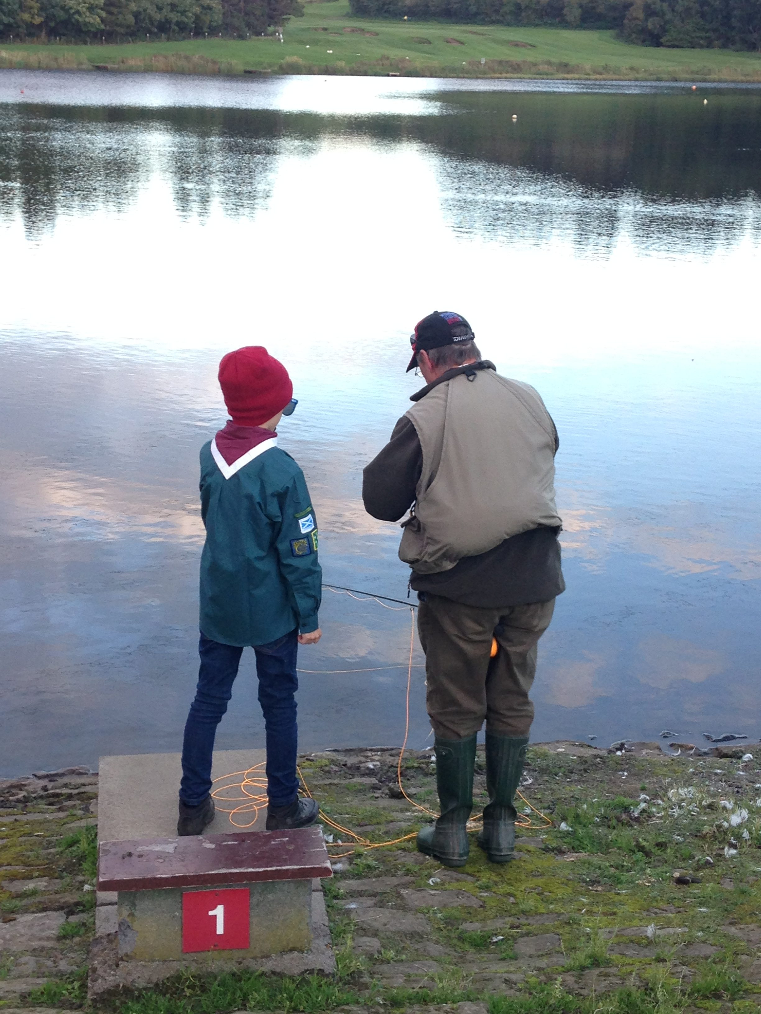 Introducing Scouts to fishing