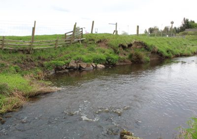 A section of the river before brash banking