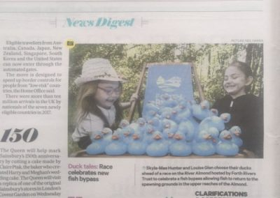 press coverage from duck race