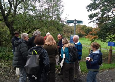 David chatting about nature and what he sees along the river as part of his job with the RiverLife project
