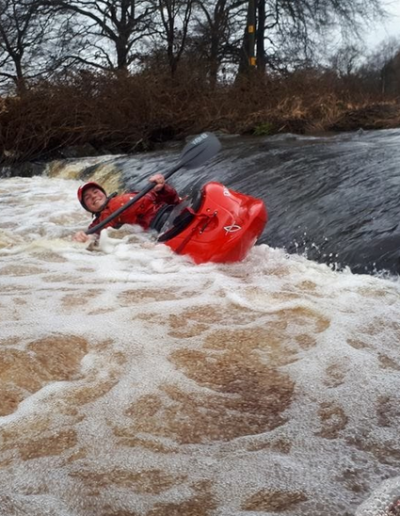 """Jonathan Riddell -- """"Sean Gaffney gets stuck in a wee stopper on a cold January day"""", Avonbridge"""